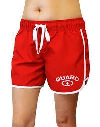 ab93597e7e29d Adoretex Female Lifeguard Board Shorts- Red
