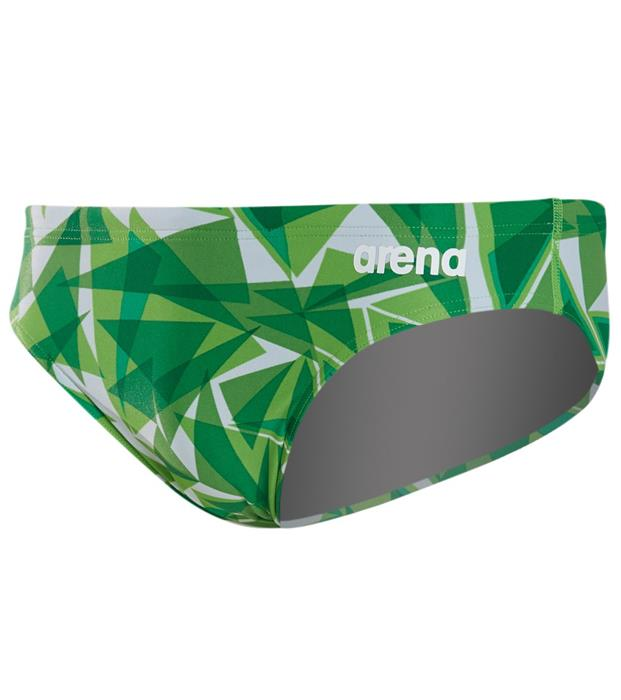 51369165d4 Arena Men's Shattered Glass MaxLife Brief- Kelly Green ...