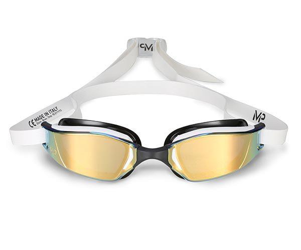 MP Michael Phelps Xceed Titanium Mirrored Gold Goggles ff1f753fc