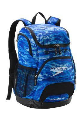 30489f2be030 Speedo Printed Teamster Backpack 35L Blue Oceans 422