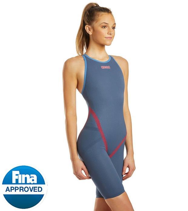 Arena Womens Powerskin Carbon Flex Vx Fbsl Open Back Racing Swimsuit Dark Grey//Dark Grey//Black 28