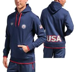 Arena USA Swimming Hooded Sweatshirt / Navy
