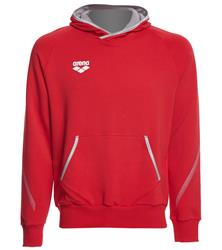 Arena Unisex Team Line Stretch Fleece Pullover Hoodie- Red