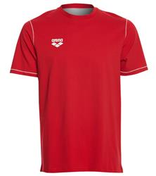 Arena Unisex Team Line Crew Neck Short Sleeve T Shirt- Red