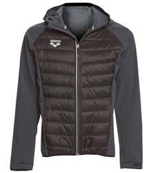 Arena Unisex Team Line Quilted Soft Shell Jacket- Black/Asphalt