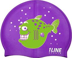 Happy-Fish-Silicone-Swim-Cap-Purple