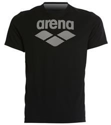 Arena Men's Short Sleeve Logo Gym Tee- Black