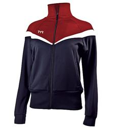 TYR-Alliance-Freestyle-Female-Warm-Up-Jacket-Navy-Red