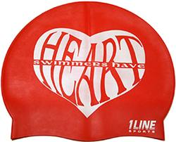 Swimmers-Have-Heart-Silicone-Swim-Cap-Red
