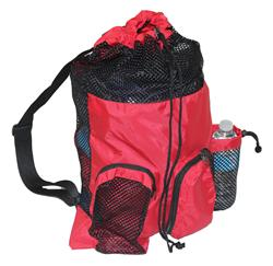 Adoretex Mesh Equipment Bag - Red/Black