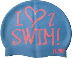 I-Love-2-Swim-Silicone-Cap-Royal