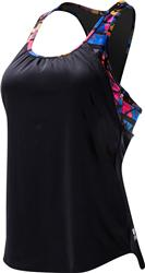 TYR Women's Santa Rosa 2 in 1 Tankini - Black/Multi