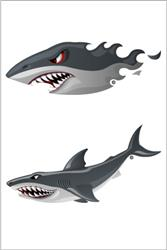 Shark Waterproof Temporary Swim Tattoos