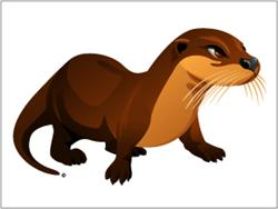 Otter Waterproof Temporary Swim Tattoo