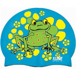 1 Line Silicone Frog Silicone Cap-Blue