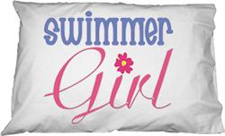 Swimmer Girl Pillowcase