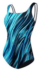 Adoretex Surfire U-Back Swimsuit - Blue/Black