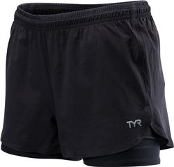 TYR Women's All Elements 2-in-1 Running Short - front