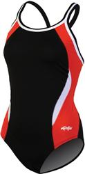Dolfin Reliance Color Block DBX Back - Black/Red/White