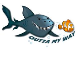 Outta My Way Shark Waterproof SwimTattoo
