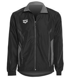 Arena Unisex Team Line Ripstop Warm Up Jacket- Black