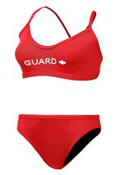 Adoretex Guard Cross Back Workout Bikini - Red