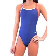 Adoretex Female Color Block Thin Strap Swimsuit-Blue Combo