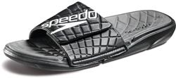 Speedo Men's Exsqueeze Me Rip Slide - Black/Darkgull Grey