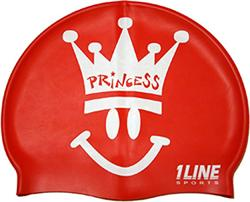 Happy-Princess-Silicone-Swim-Cap-Red